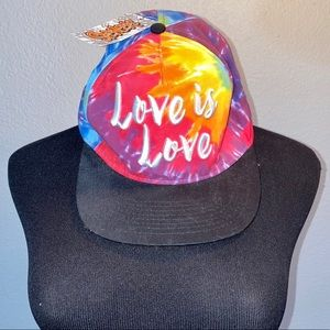 NWT Love is Love Tye-dye SnapBack